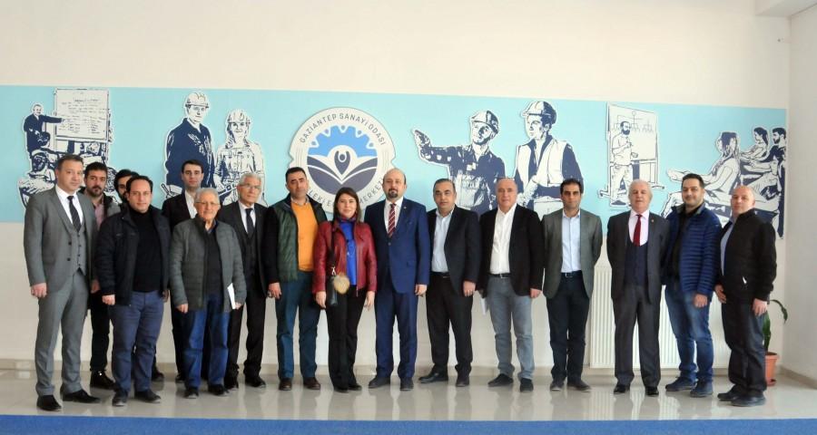 GAZİANTEP İTÜ MEZUNLARI DERNEĞİ'NDEN GSO-MEM'E ZİYARET