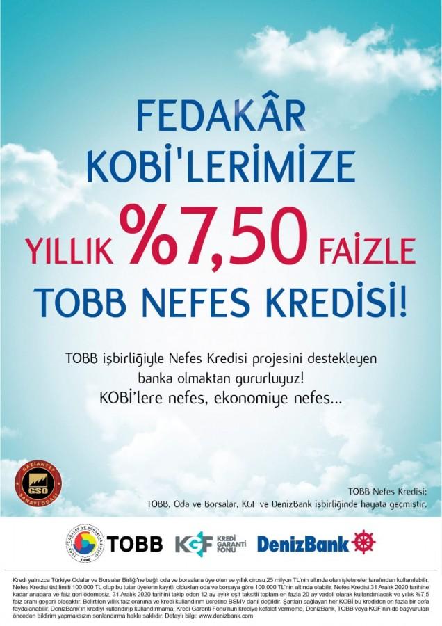 TOBB NEFES KREDİSİ BAŞLADI