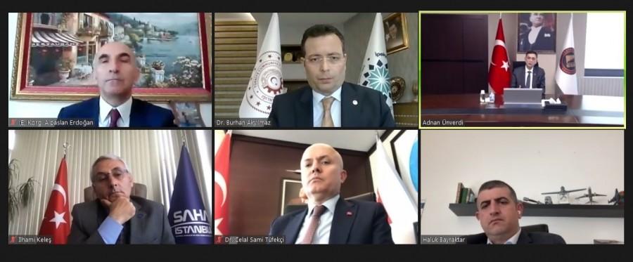 """""""SAVUNMA SANAYİ"""" KONULU PANEL VİDEO KONFERANS YÖNTEMİ İLE YAPILDI"""