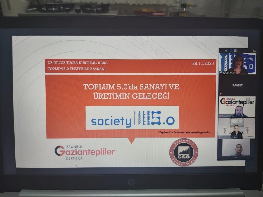 """""""TOPLUM 5.0'DA SANAYİ VE ÜRETİM"""" KONULU TOPLANTI YAPILDI"""