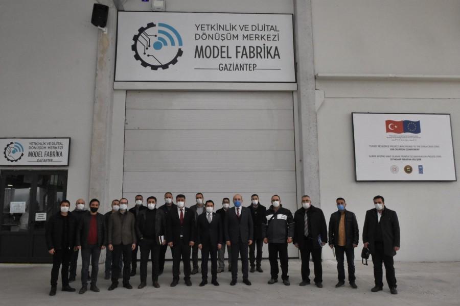 MMO GAZİANTEP ŞUBESİ'NDEN MODEL FABRİKA'YA TEKNİK GEZİ